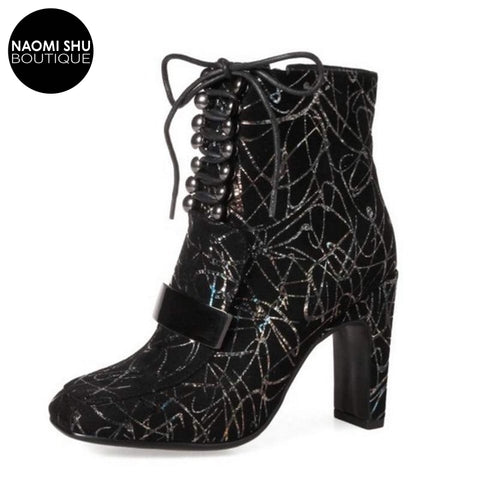 BESKY High Heels Ankle Boots