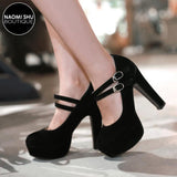 VASCO Double Buckle Strap Platform Heel