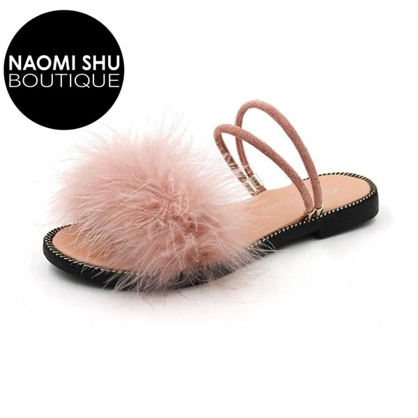 WENDY Furry Sandals