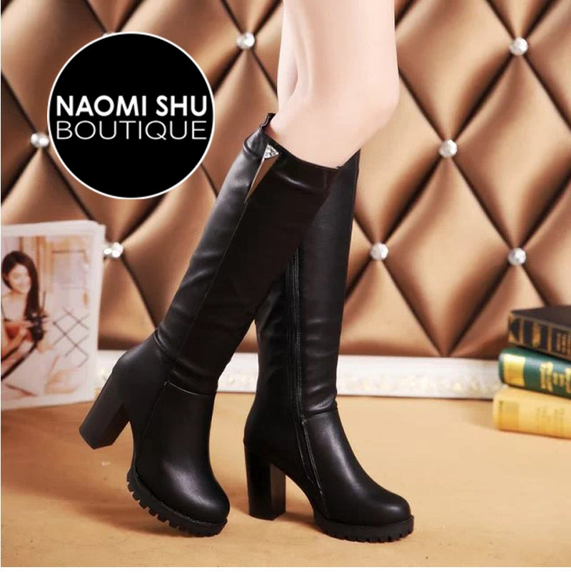 JEWEL Short Plush Knee High Boots