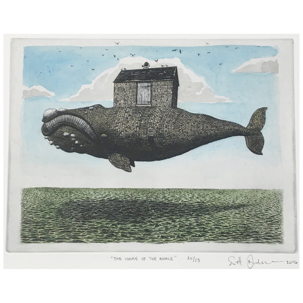 House of the Whale - Solar Etching Print