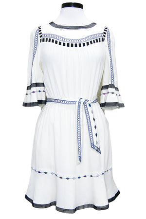 ba&sh plaza dress off white