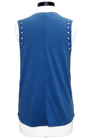 monrow muscle tank with triangle cutouts