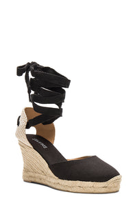 soludos tall wedge black