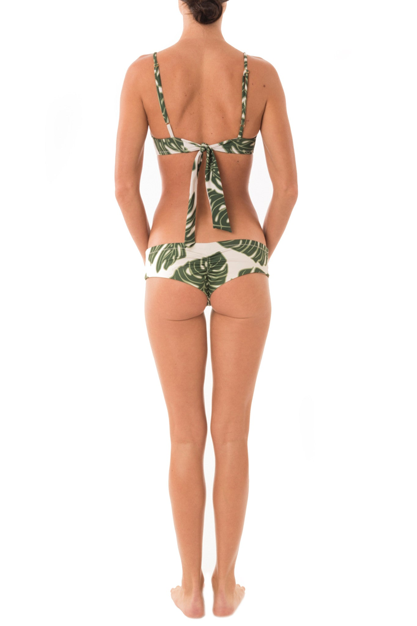 Green Leaf Tie Back Bra