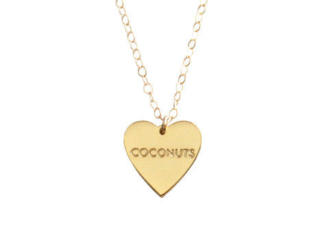 "MY HEART BELONGS TO ""COCONUTS"" NECKLACE"