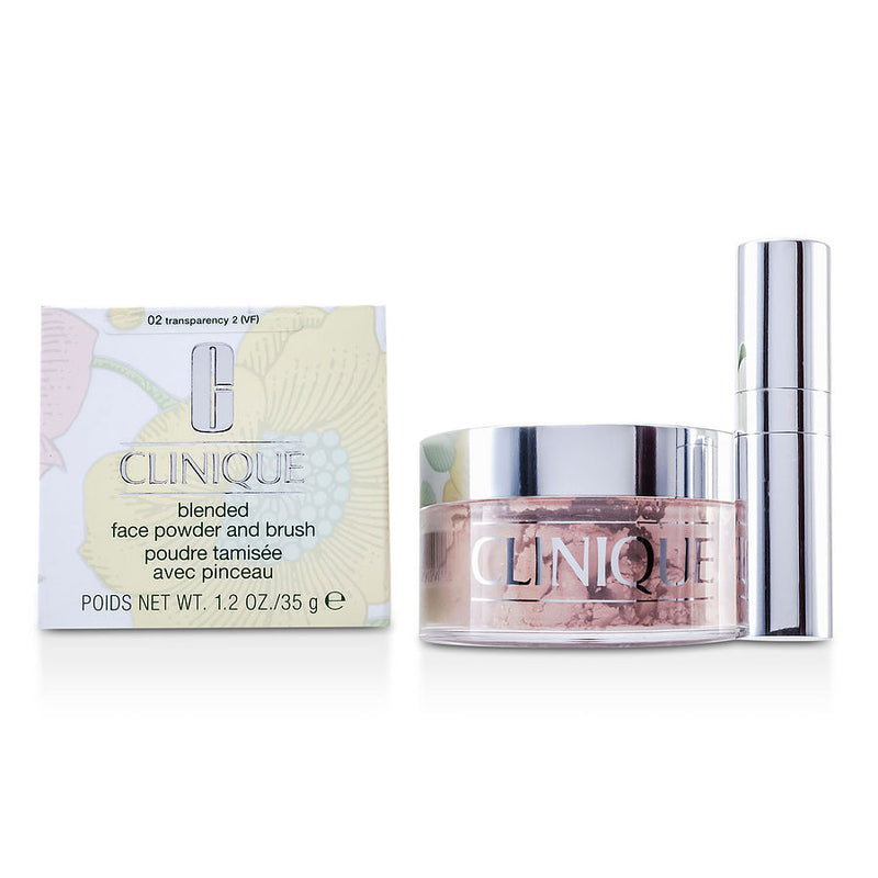 Clinique Blended Face Powder + Brush - No. 02 Transparency Premium  --35g-1.2oz By Clinique