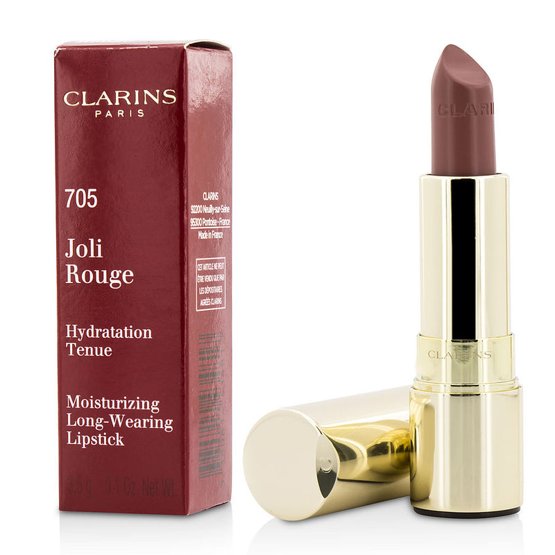 Clarins Joli Rouge (long Wearing Moisturizing Lipstick) - # 705 Soft Berry --3.5g-0.12oz By Clarins