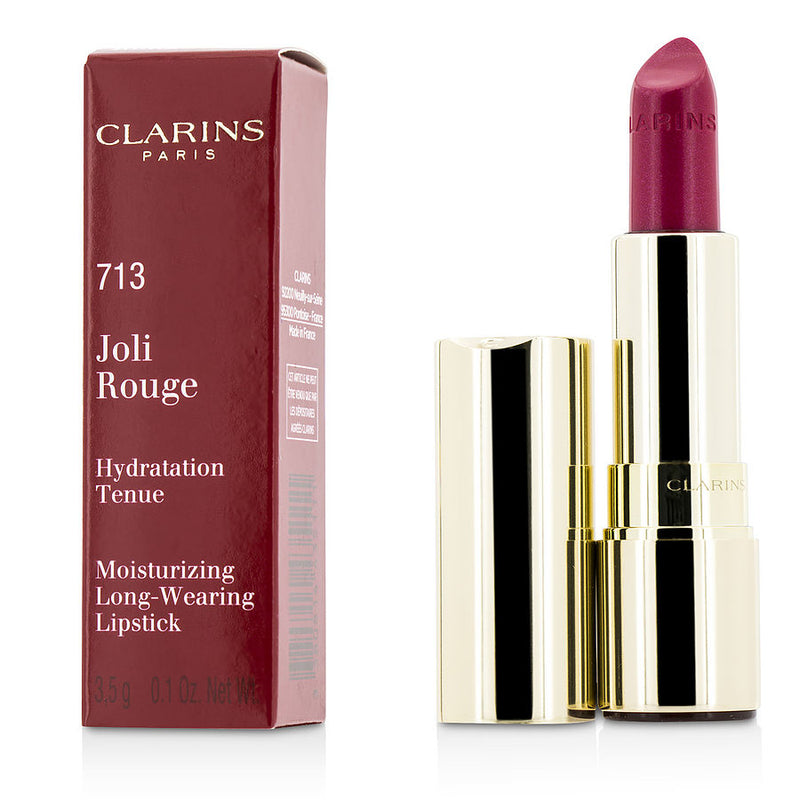 Clarins Joli Rouge (long Wearing Moisturizing Lipstick) - # 713 Hot Pink --3.5g-0.12oz By Clarins