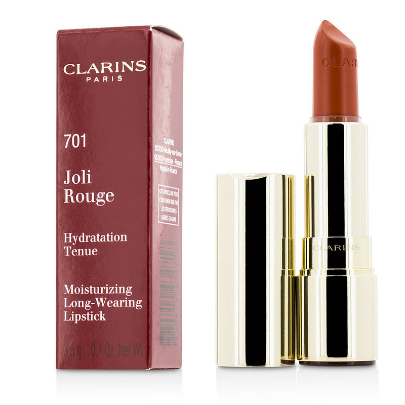 Clarins Joli Rouge (long Wearing Moisturizing Lipstick) - # 701 Orange Fizz --3.5g-0.12oz By Clarins