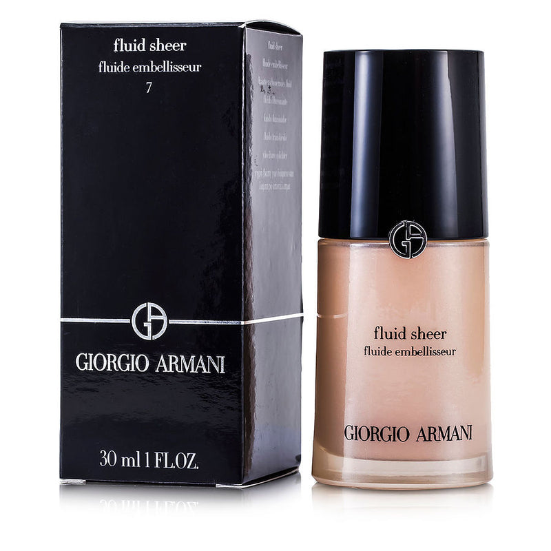 Giorgio Armani Fluid Sheer - # 7 Pale Shimmering Rose --30ml-1oz By Giorgio Armani