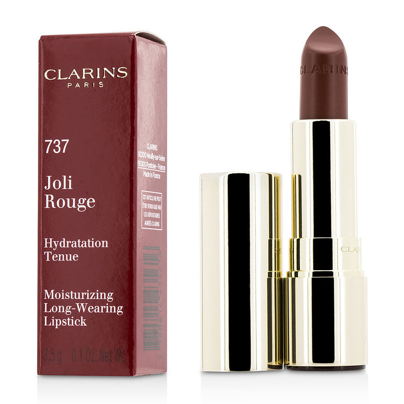 Clarins Joli Rouge (long Wearing Moisturizing Lipstick) - # 737 Spicy Cinnamon --3.5g-0.1oz By Clarins