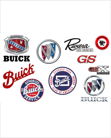Buick Through the Years Metal Sign 12 x 18""