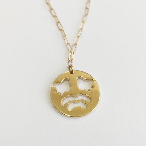 Cut Out Birds 14K Gold Necklace