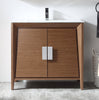 "36"" Larvotto Light Wheat Modern Bathroom Sink Vanity CL-22WV36-ZI"