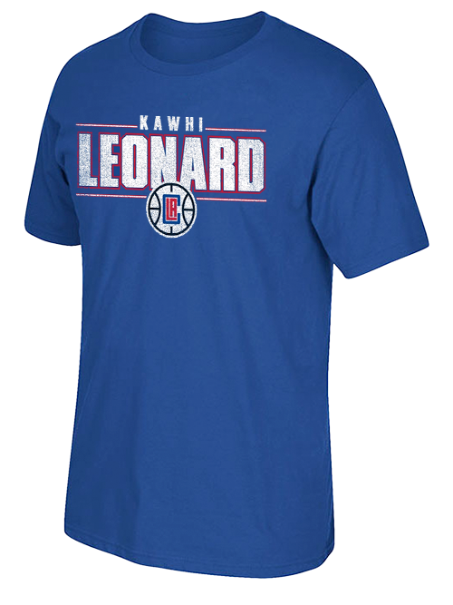 LA Clippers Kawhi Leonard Distressed Name T-Shirt
