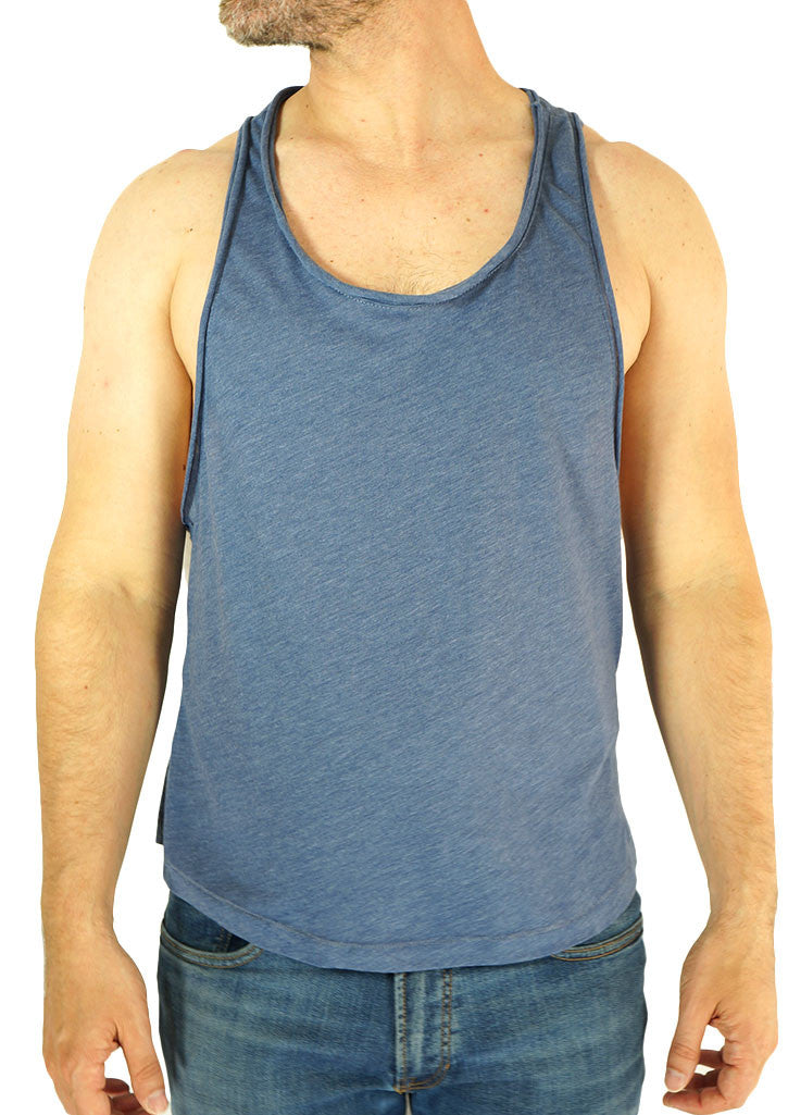 Extreme Racerback Tank w/ Cut-edge Detail (Steel Blue)