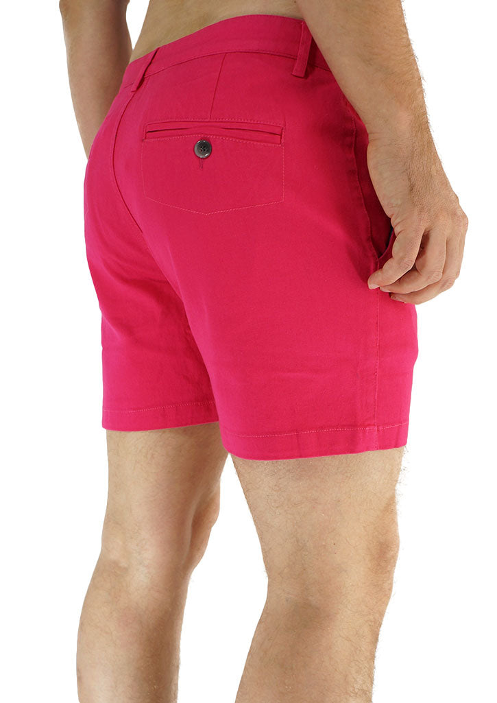 "Trouser Cut Shorts 4"" Inseam (Hot Pink)"