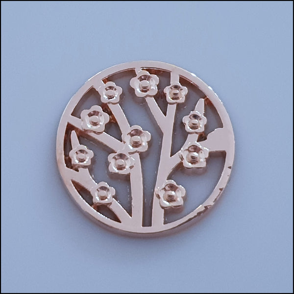 Coin for Coin Pendant - Flower Garden Rose Gold