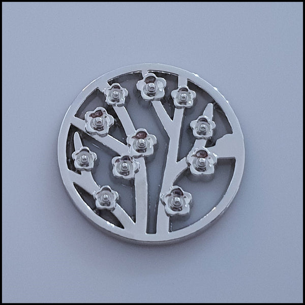 Coin for Coin Pendant - Flower Garden Silver