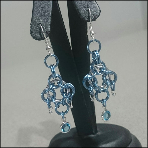 Handmade Earrings - Blue Romance