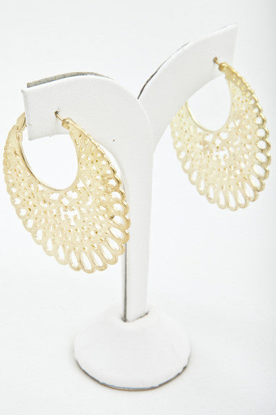 Gold Cut-Out Hoops