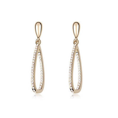 White Austrian Crystal Earrings - Find Something Special