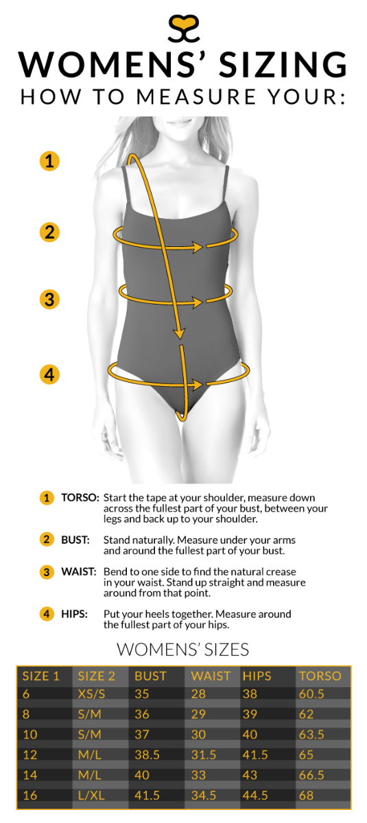 how to measure for a women's swimsuit