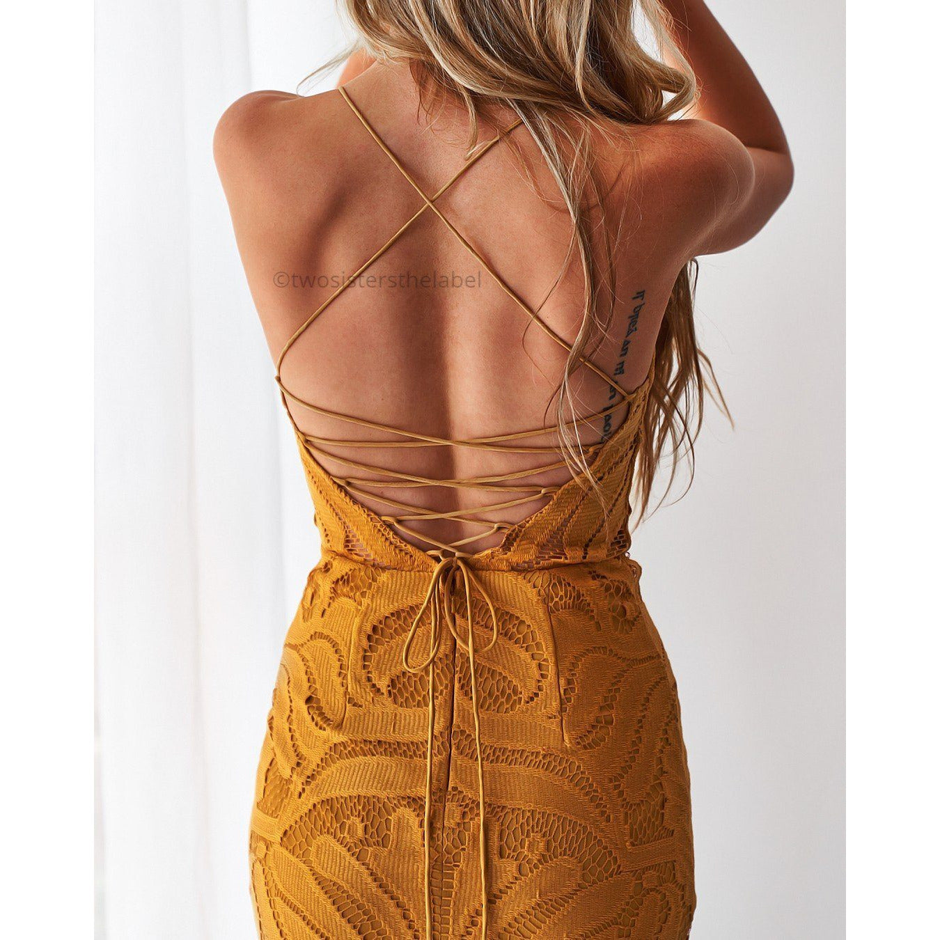 Khaleesi dress in mustard (Pre Order)