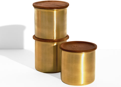 Ayasa brass storage container by Tiipoi - Large 0.75l