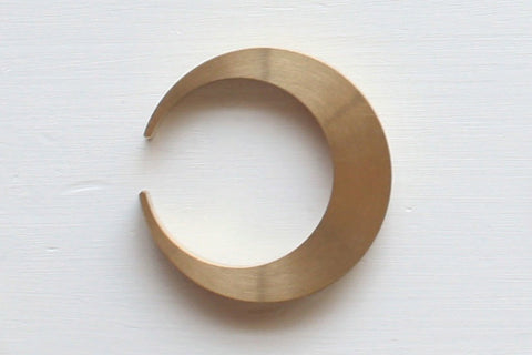Futagami brass bottle opener by Oji Masanori - Crescent