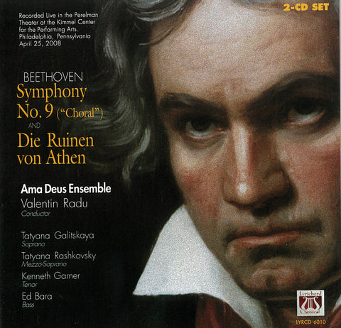 "Beethoven: Symphony No. 9 (""Choral"") in D Minor Opus 125 and Die Ruinen von Athen Opus 113 <font color=""bf0606""><i>DOWNLOAD ONLY</i></font> LYR-6010"