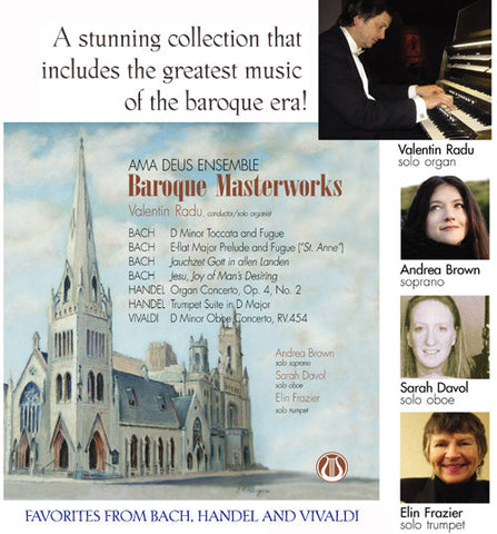 "Baroque Masterworks - Ama Deus Baroque Ensemble <font color=""bf0606""><i>DOWNLOAD ONLY</i></font> LEMS-8058"