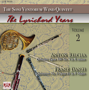 "Anton Reicha Quintet Op. 100 No. 4 in E minor - Franz Danzi Quintetto No. 3, Op. 51 in F Major - <font color=""bf0606""><i>DOWNLOAD ONLY</i></font> LYR-6020"