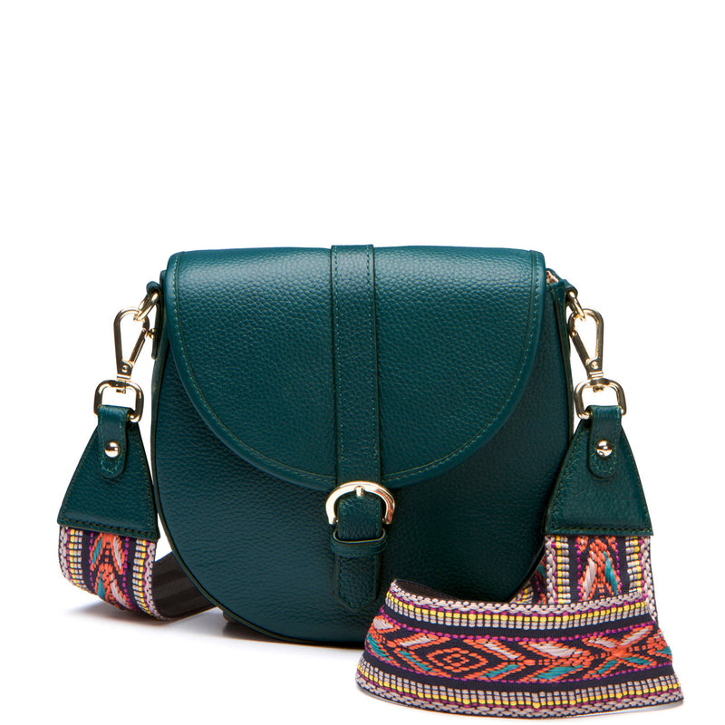 Billie Saddle Bag with Guitar Strap - Deep Teal