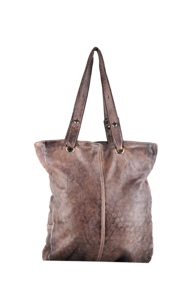 Tote bag with front zipper pocket and shoulder straps