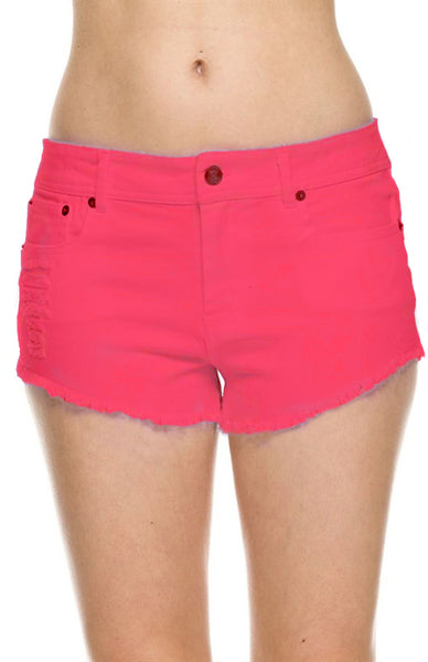 Mid Rise Distressed Cutoff Denim Shorts - BodiLove | 30% Off First Order  - 1