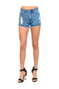 High Waisted Cutoff Distressed Denim Shorts | 30% Off First Order | Medium Wash