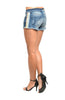 Distressed Aztec Themed Cutoff Jean Shorts - BodiLove | 30% Off First Order  - 2