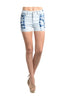Bleached Tie Dye High Waisted Denim Shorts - BodiLove | 30% Off First Order  - 1
