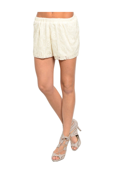 Dressy Chic Crochet Lace Shorts | 30% Off First Order | Cream
