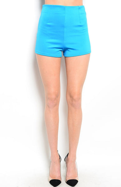 High Waisted Zipper Trim Tap Shorts - BodiLove | 30% Off First Order  - 1