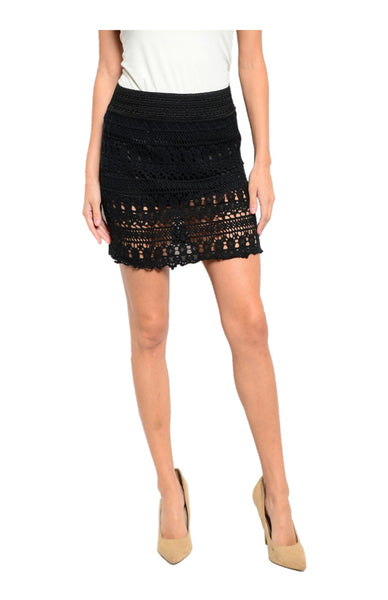 Dressy Crochet Lace Pencil Skirt - BodiLove | 30% Off First Order  - 1