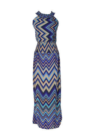 Exotic Chevron Prints Maxi Beach Dress