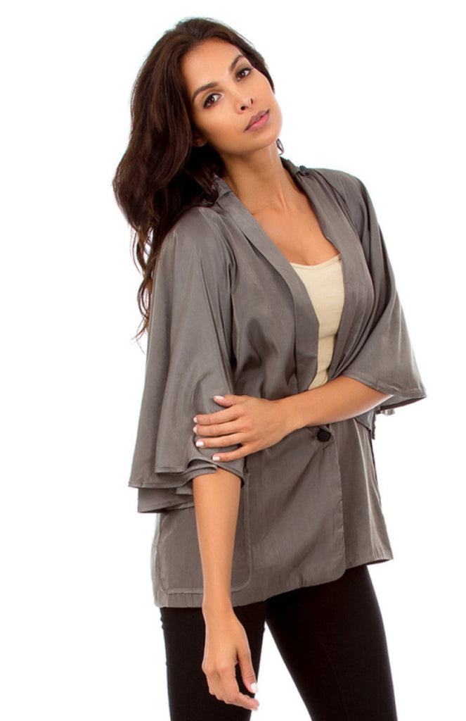 Two Pocket Butterfly Sleeve Blazer - BodiLove | 30% Off First Order  - 7
