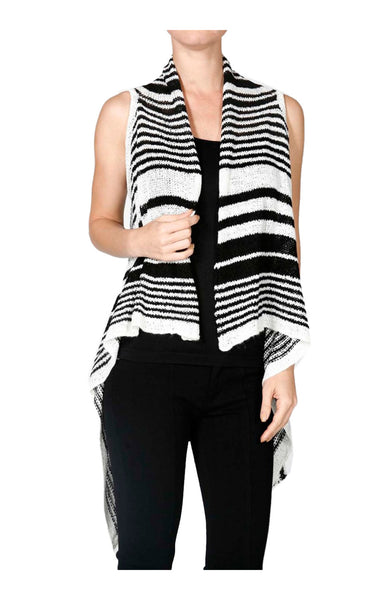 Sleeveless Open Front Knit Cardigan Vest - BodiLove | 30% Off First Order  - 1
