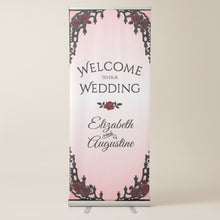 Load image into Gallery viewer, Red Rose Gothic Retractable Banner