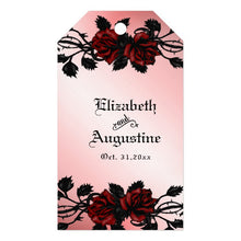 Load image into Gallery viewer, Red Rose Gothic Wedding  Personalized Champagne Gift Tags