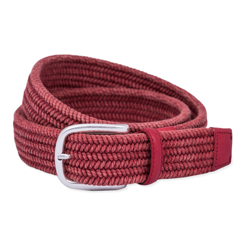 Belt Paolo Vitale Twisted Cotton Vintage Stone Red