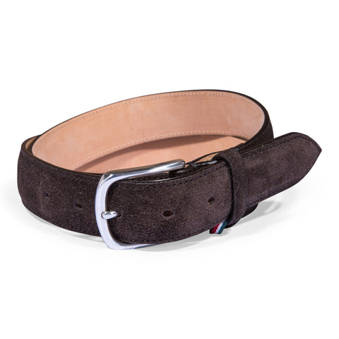 Belt Paolo Vitale Calf Suede Brown